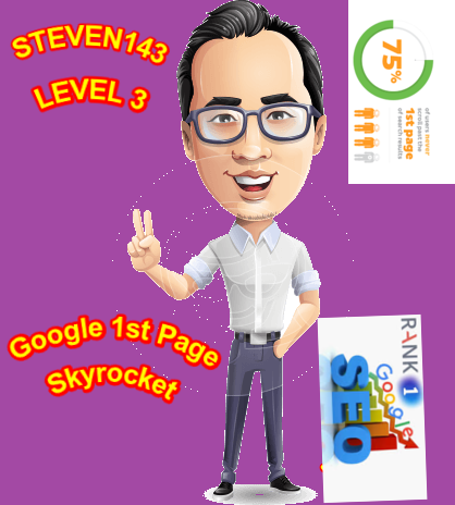 STEVEN143 Google 1st Page Skyrocket Your Website Higher Rankings SEO