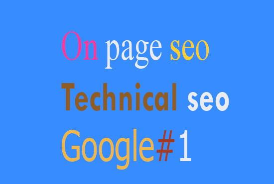 On page SEO and technical onpage optimization of wordpress site for google page 1 ranking