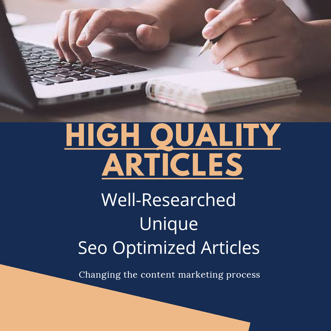 High Quality Content/Article Writing Services.