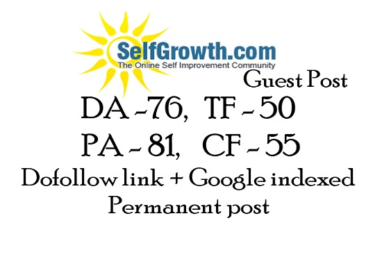 publish a guest post on selfgrowth with backlink