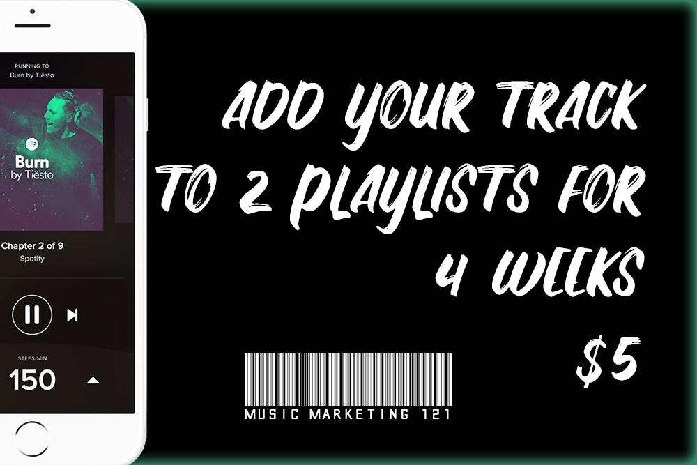 4 Week Music Playlist Promotion
