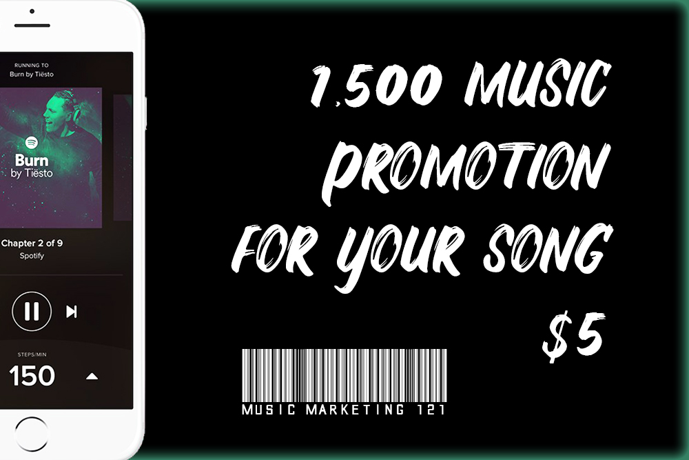 1,500 / 1500 / 1k+ Viral Music Promotion For Your Song NO BOTS