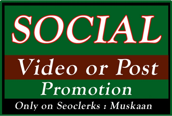 High Quality Organic Social Video and Post Promotion for 12 hours