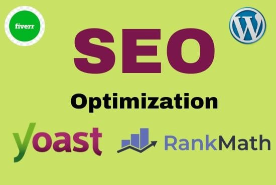 I will do on page SEO optimization with yoast or rank math