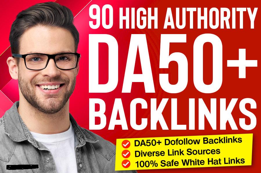 90 high quality dofollow SEO backlinks high da authority white hat link building