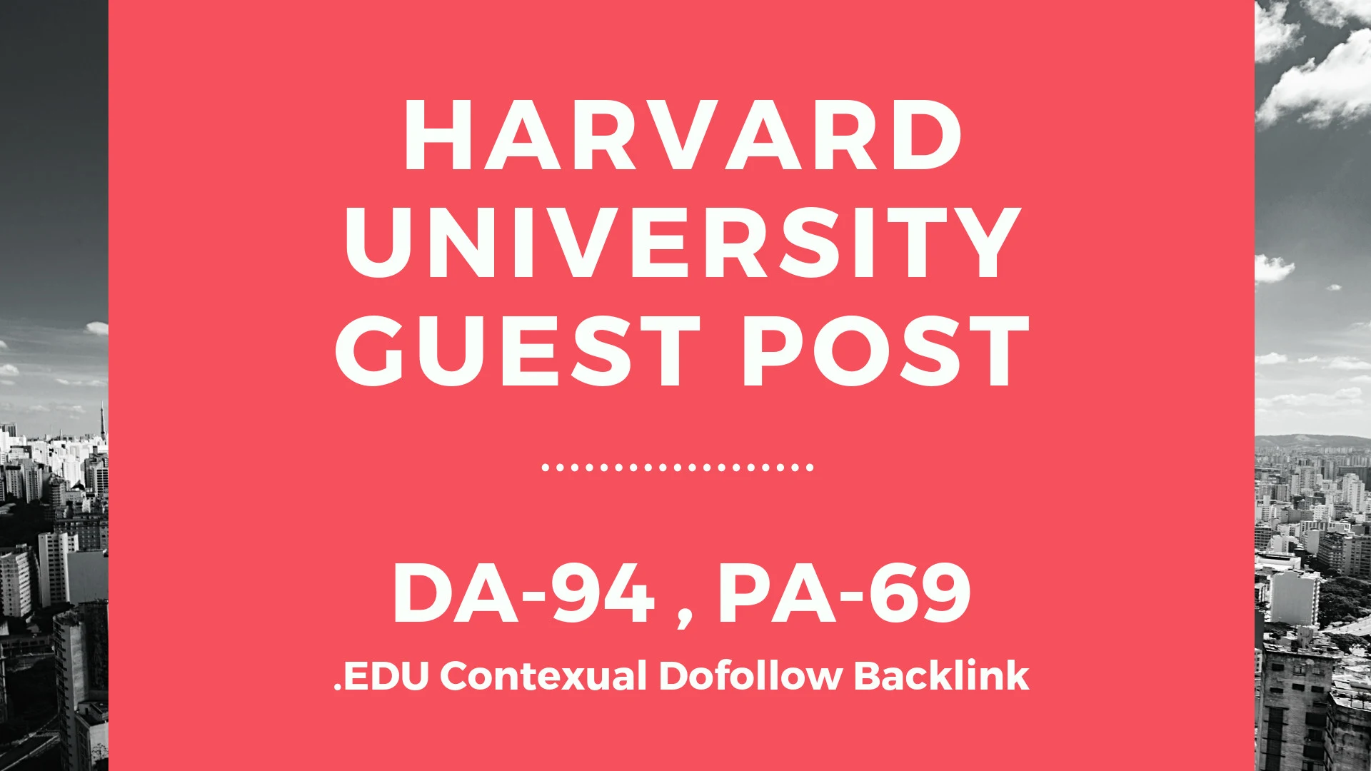 Publish a Guest Post on Harvard University harvard. edu - DA94