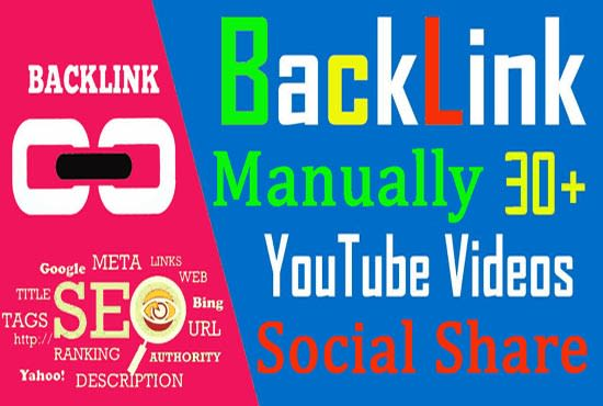 Get Youtube video promotion with mix of permanent SEO backlinks