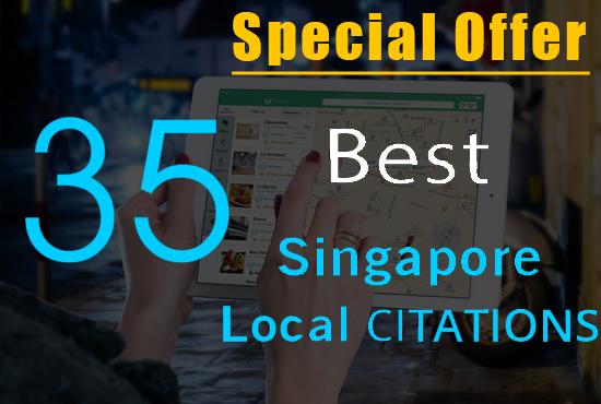 Top 35 Singapore Citation Sites Manually