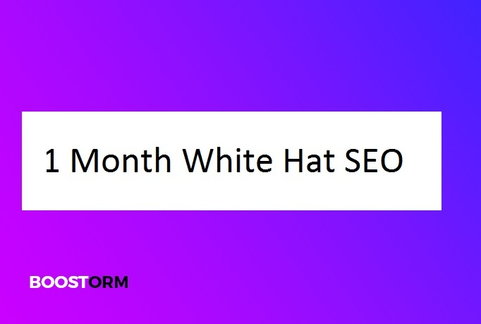 1 month white hat SEO for your website or blog