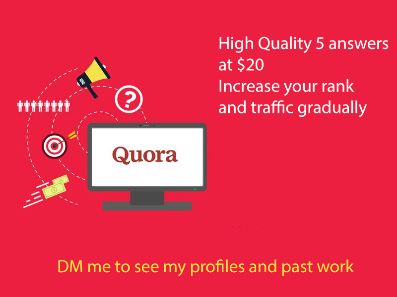 I will promote your website through Quora answers