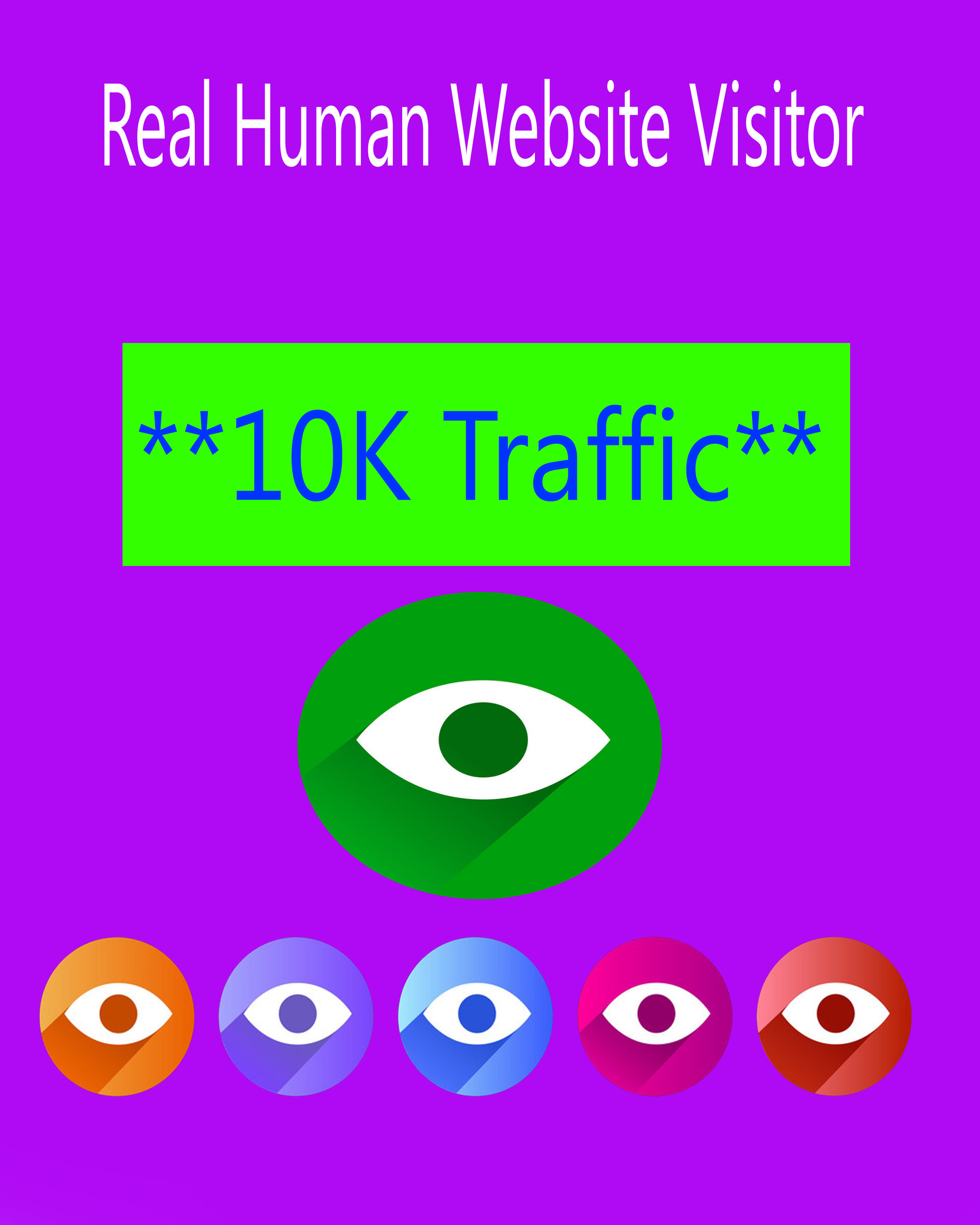 I Provided 10000 Traffic for Growth your webpage