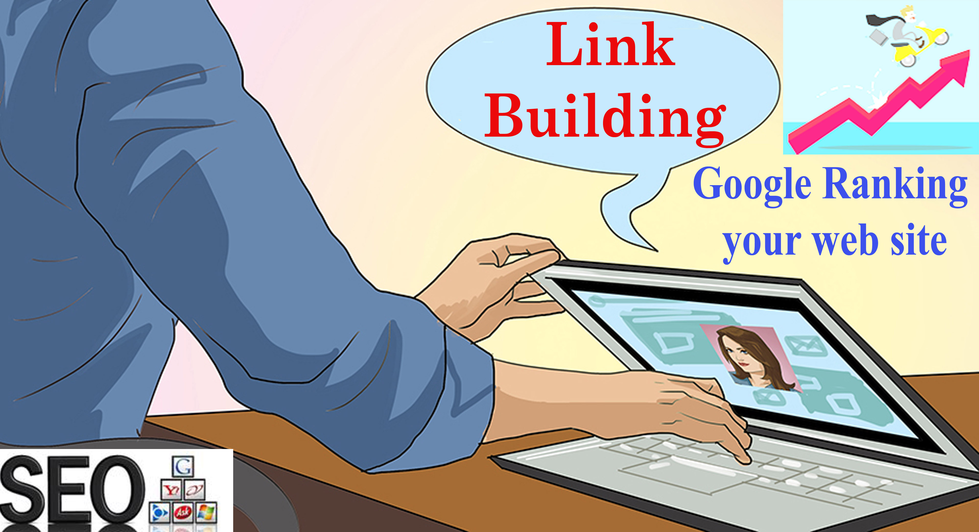 I will create 60 high authority link building backlinks