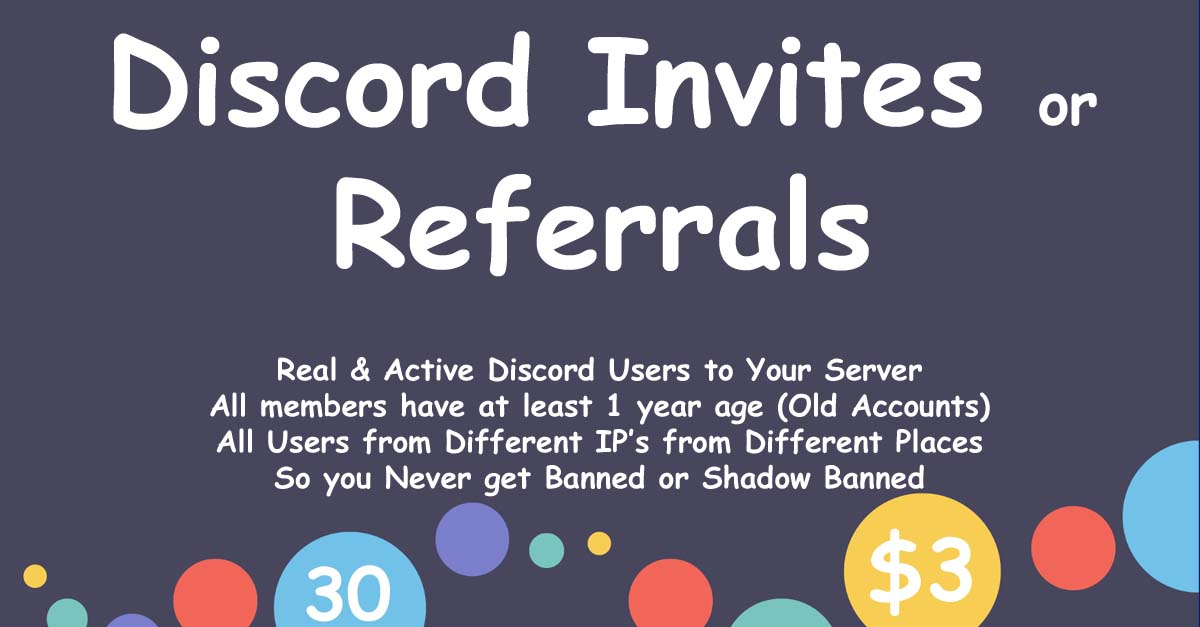 Buy 30 Discord Members to Your Server - Buy 30 Discord Referrals