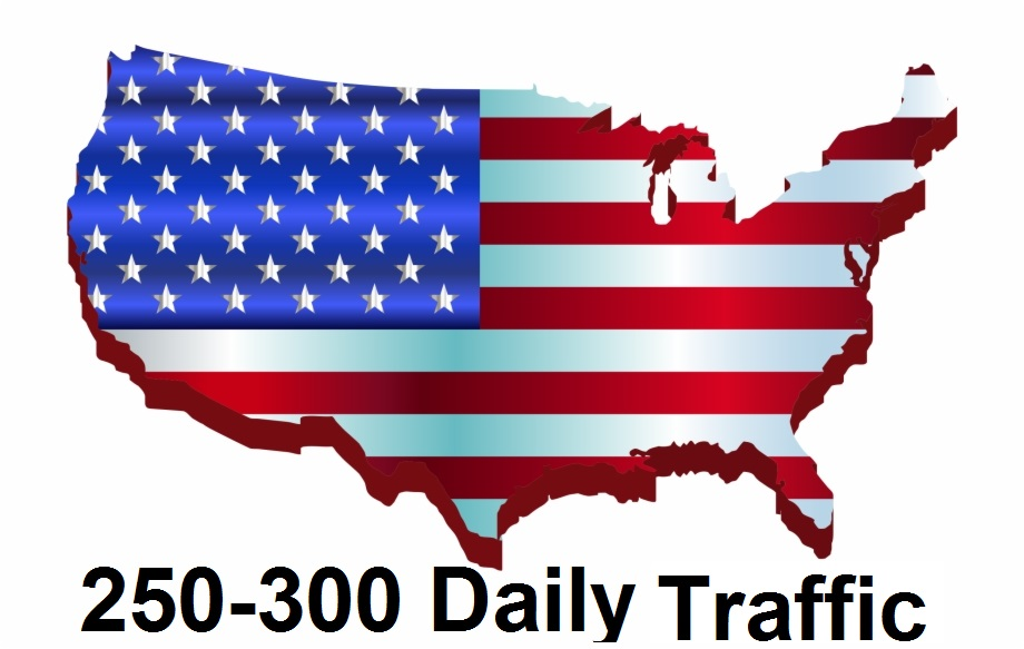 Provide 250 to 300 daily USA traffic for one month