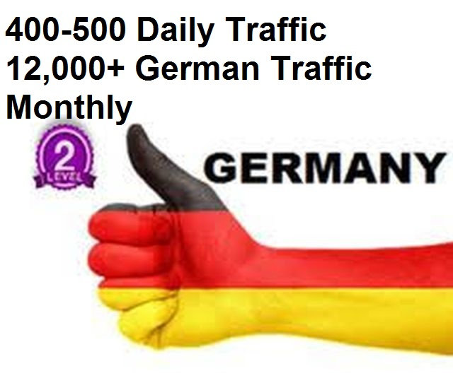 Daily Germany traffic up to more than 12000 a month