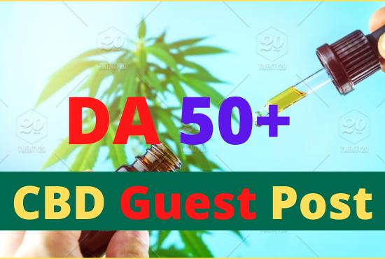 Write and Publish 10 CBD Guest Post High Authority DA 50+ Unique Content Permanent backlinks