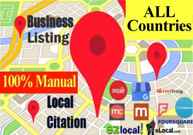 50+20 Maps citation +Local Citation,  directory submission,  business listing,  local SEO,  Any Country
