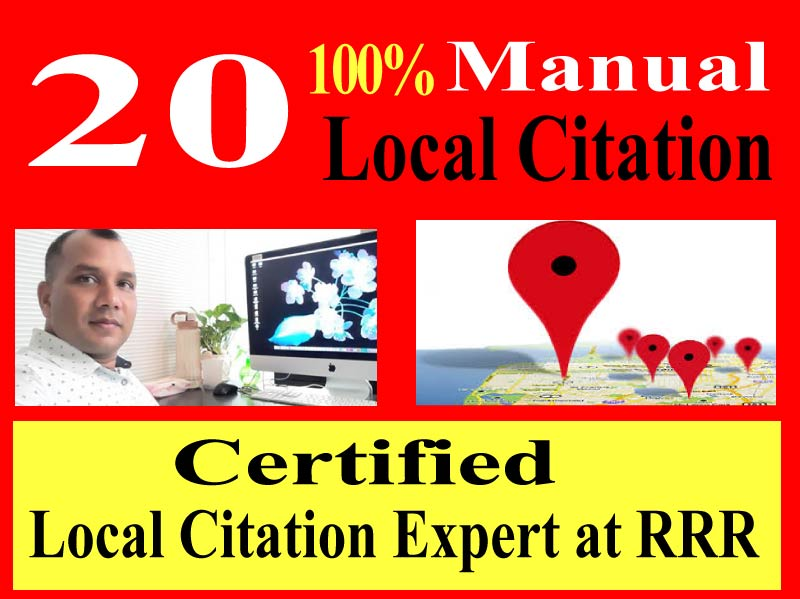 Manual 20 Local Citation, directory submission, business listing. google maps citation, local business