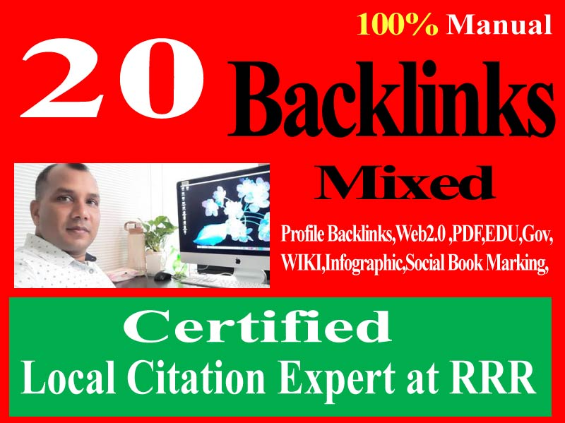 Manually do 20 Mixed Backlinks,  PBN,  Web 2.0,  Pdf Submission, article submission,  forum posting