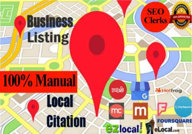 Manual 50 local citation, business listing, directory submission, local business, google maps citation