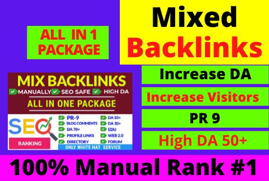 80 Manual Mixed backlinks High DA 50+ high authority link building permanent pdf,  web2.0 more