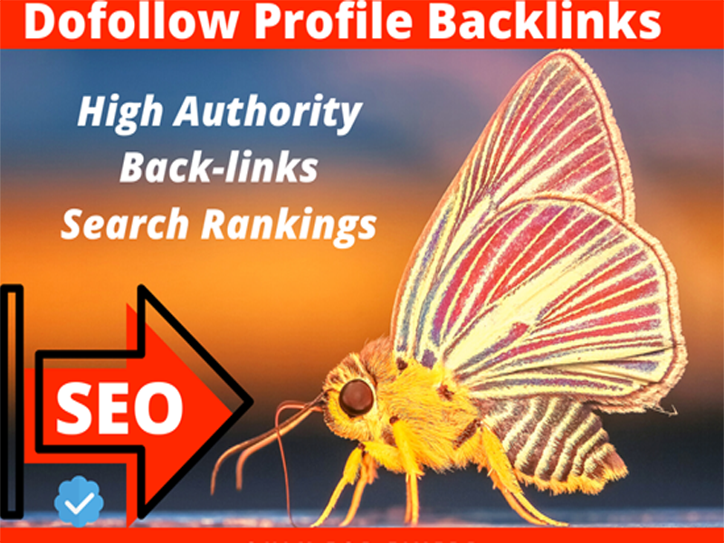 I will do manually create 20 dofollow profile backlinks