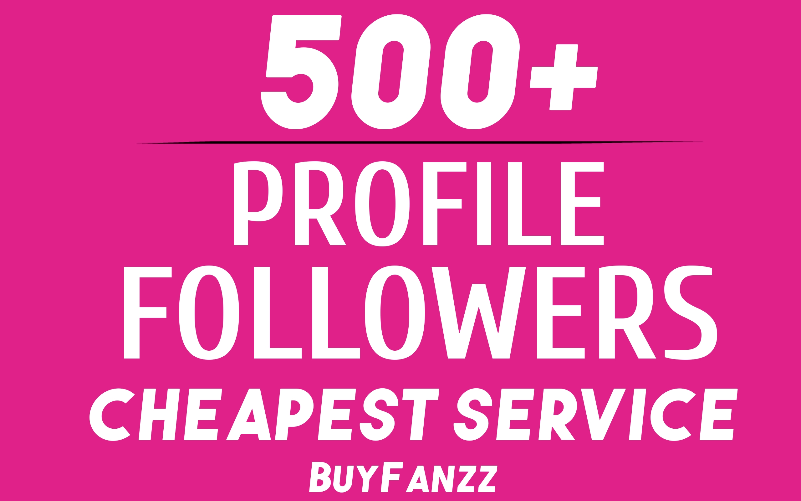 Add Fast 500+ Profile Followers High Quality NON DROP