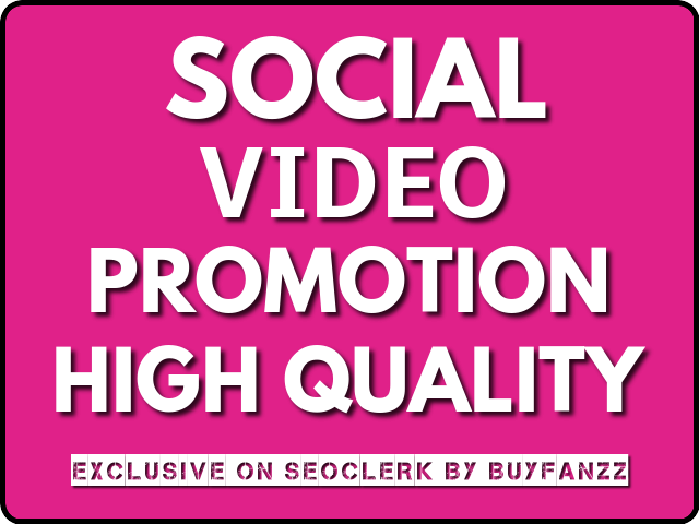 SOCIAL VIDEO Visitors High Quality Promotion