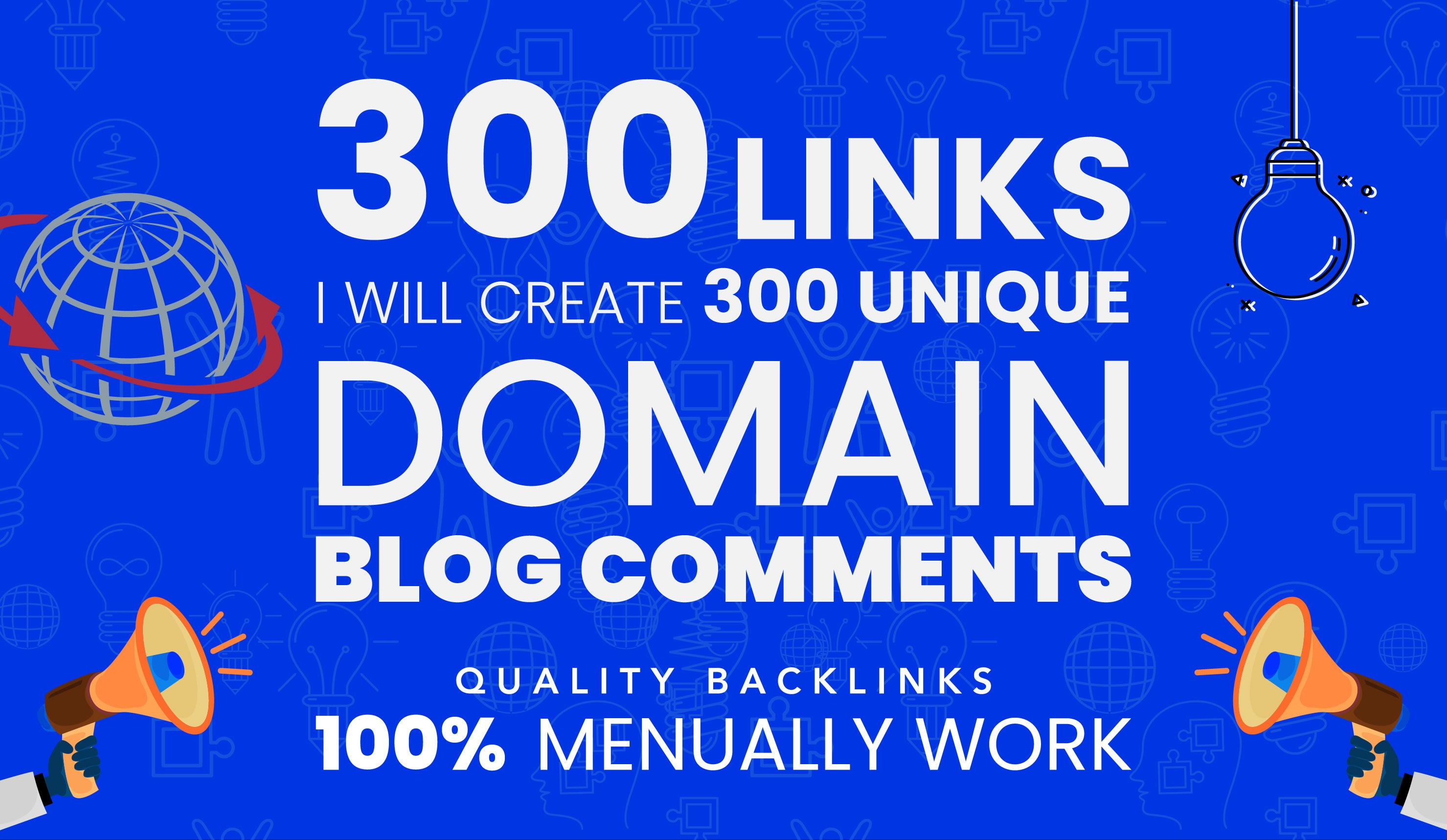 Manual 300 High DA PA Instant Approval Blog Comments Permanent LIVE SEO Backlinks