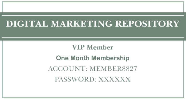 The Digital Marketing Repository - 1 Month Training - Improve Your SEO and Marketing Skills!