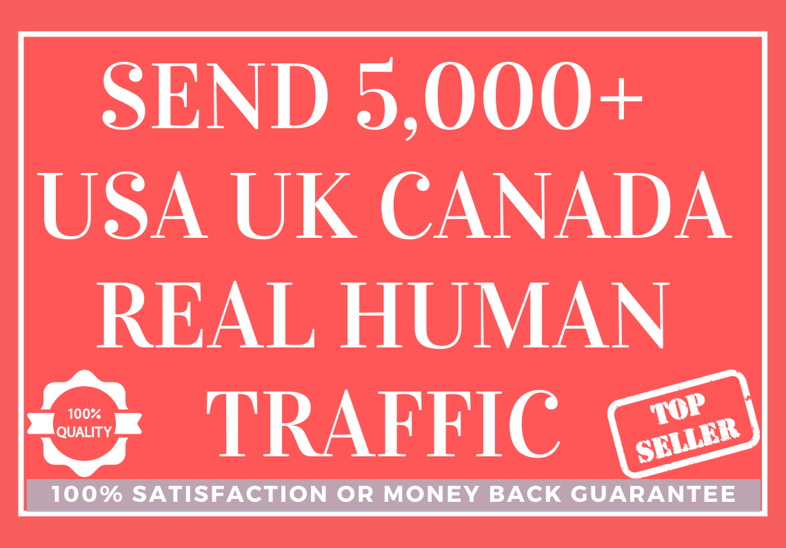 Send 5,000+ USA UK CANADA Real Human Traffic to Your Website