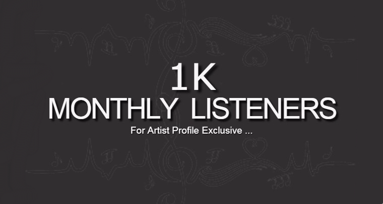 Do Organic Spotlfy 1000 Monthly Listeners Promotion For Your Artist Profile