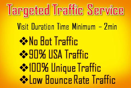 Provide You Unlimited Web Traffic For 10 Days