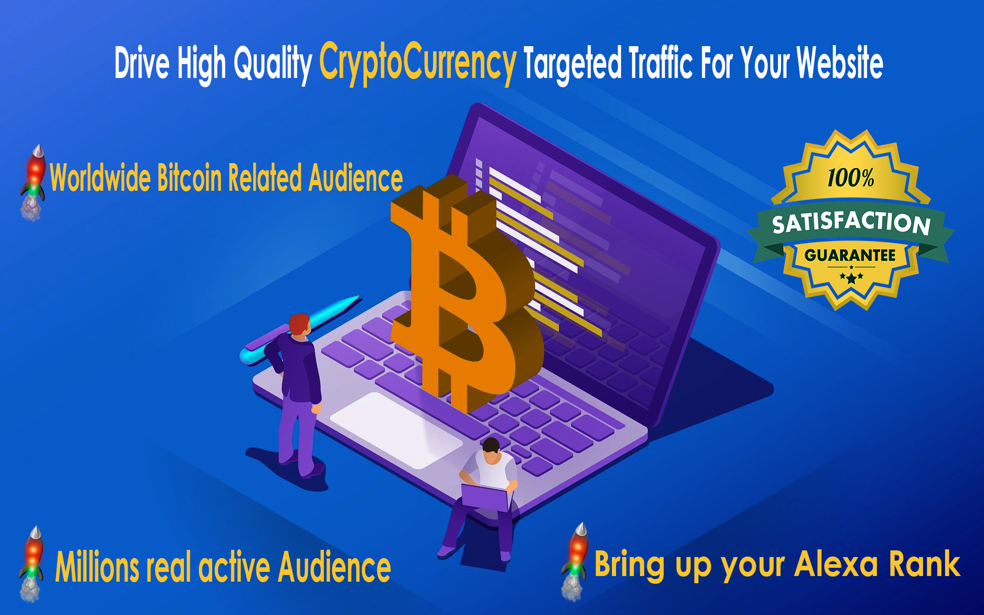 Drive High Quality Crypto Currency Targeted Daily Traffic For Your Website