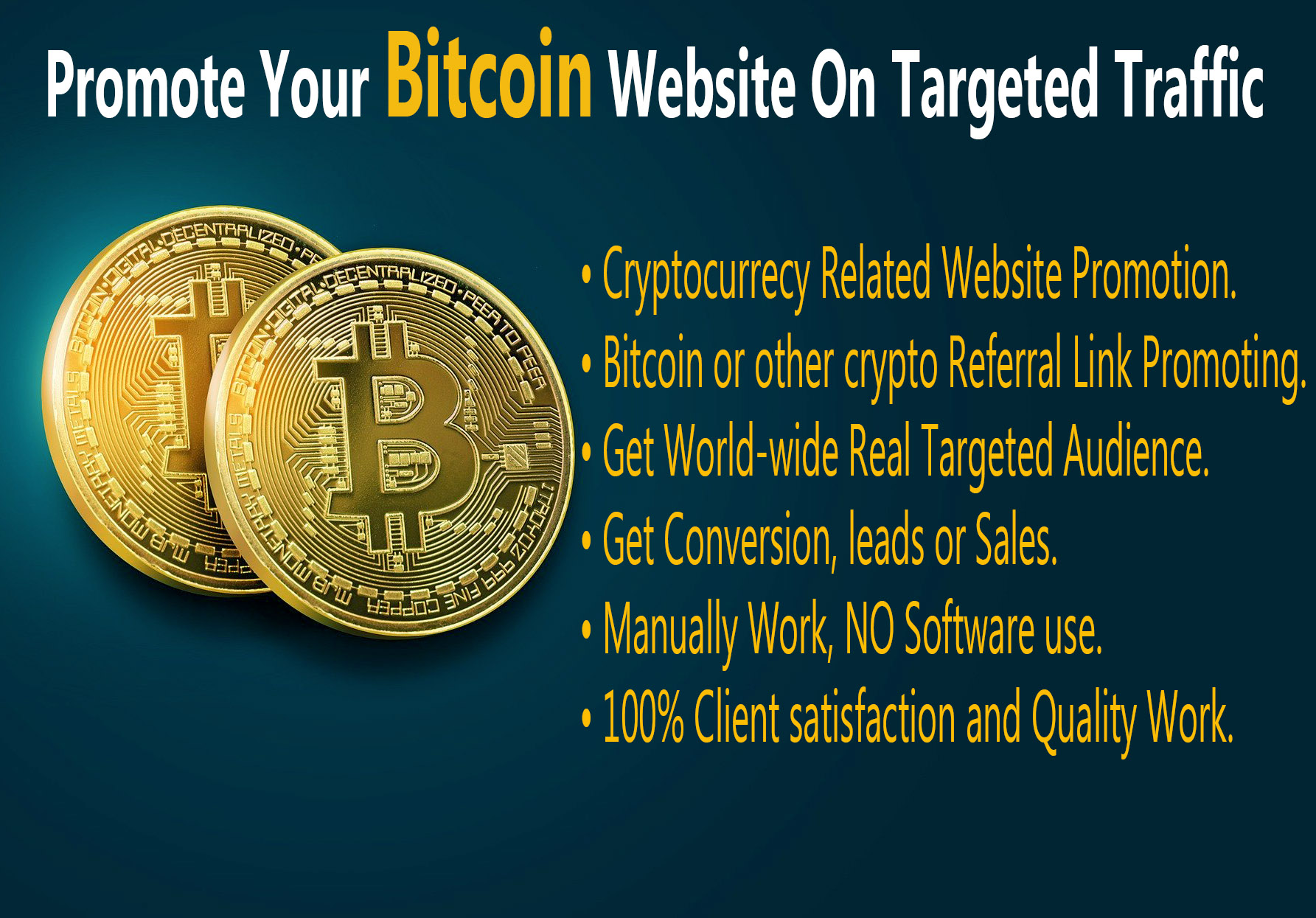 Promote Your Bitcoin Website On Targeted Traffic