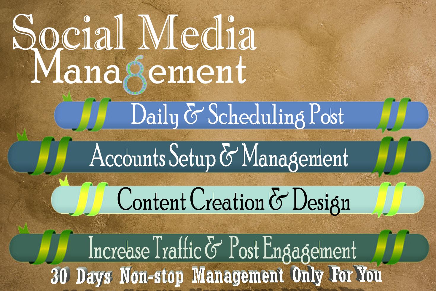 Do Social Media Management For 30 Days