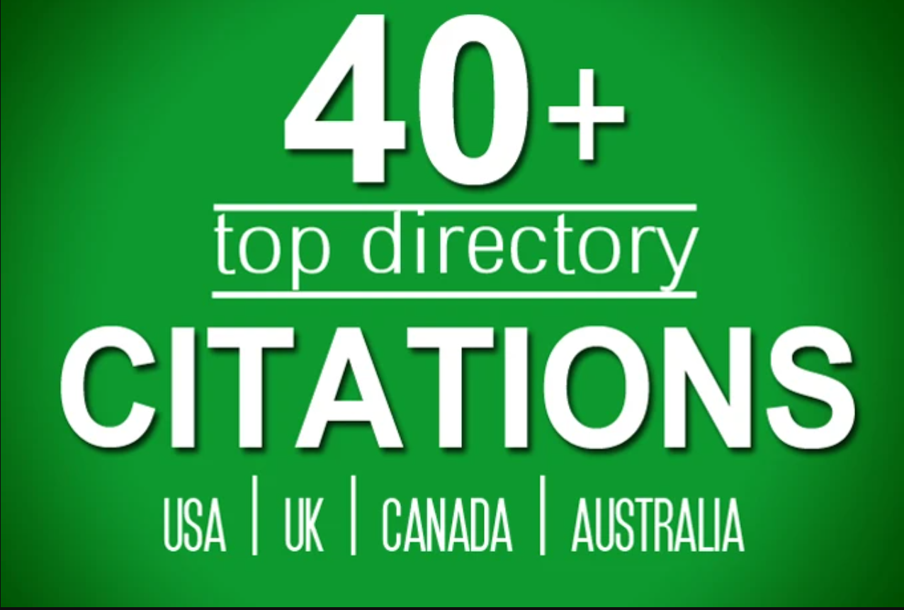 build directory citations for usa,  uk,  canada local listing business