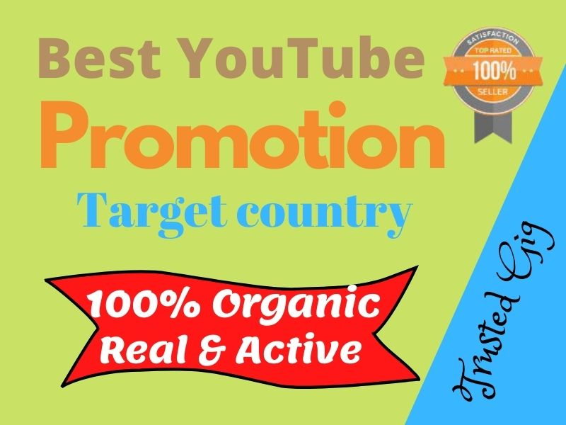Get Best YouTube Video Promotion & Marketing Via Active Users