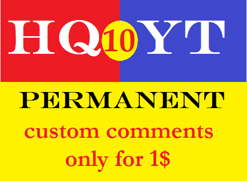 10+ permanent custom comments.