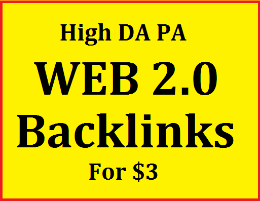 High DA PA web2.0 Backlinks Almost all links are Dofollow