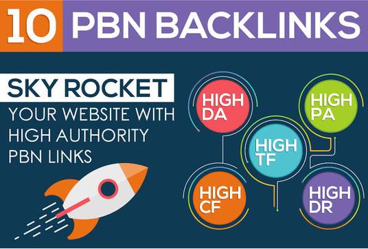 Do 10 Dofollow High Quality DA PA TF CF HomePage PBN Backlinks Manually