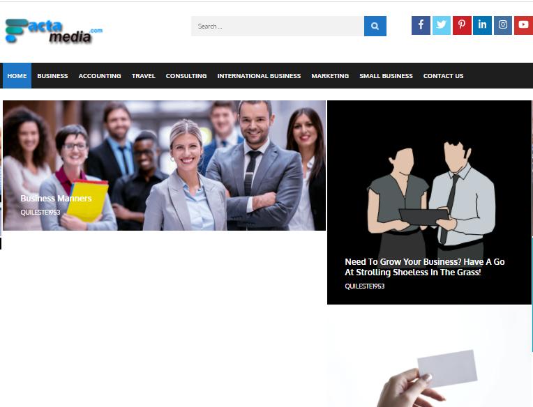 Publish High Quality Guest Post on Business Blog Factamedia. com