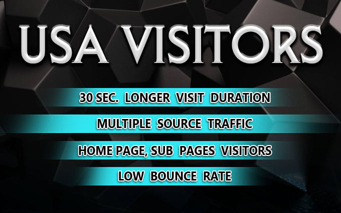 I will provide keyword target USA website traffic with low bounce rate