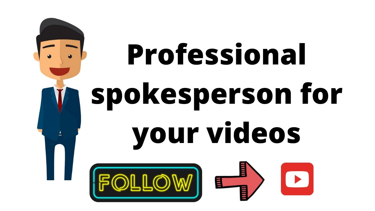 I will carryout professional spokesperson for your videos