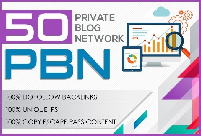 I do 50 high metrics pbn posts contextual backlinks