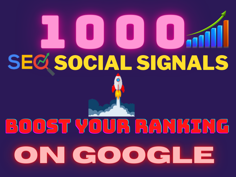 Manually Provide 1000 Website Promotion SEO Social Signals