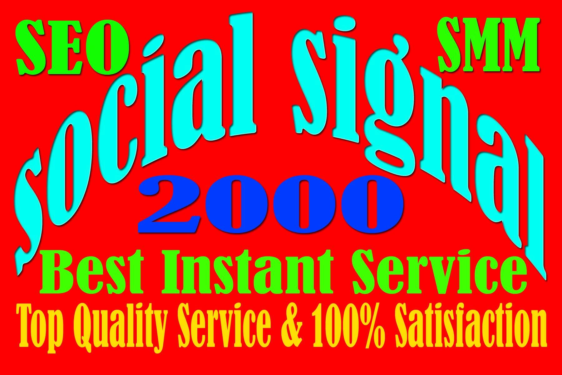 Drip Feed 2000 Website Mixed Social Signals