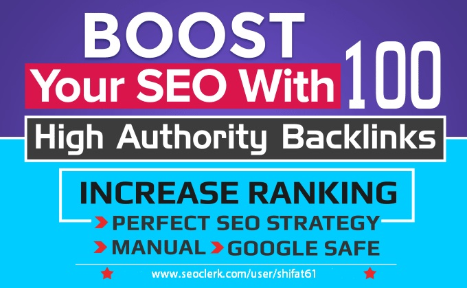 100 Manual White hat SEO Authority Backlinks From 70+DA