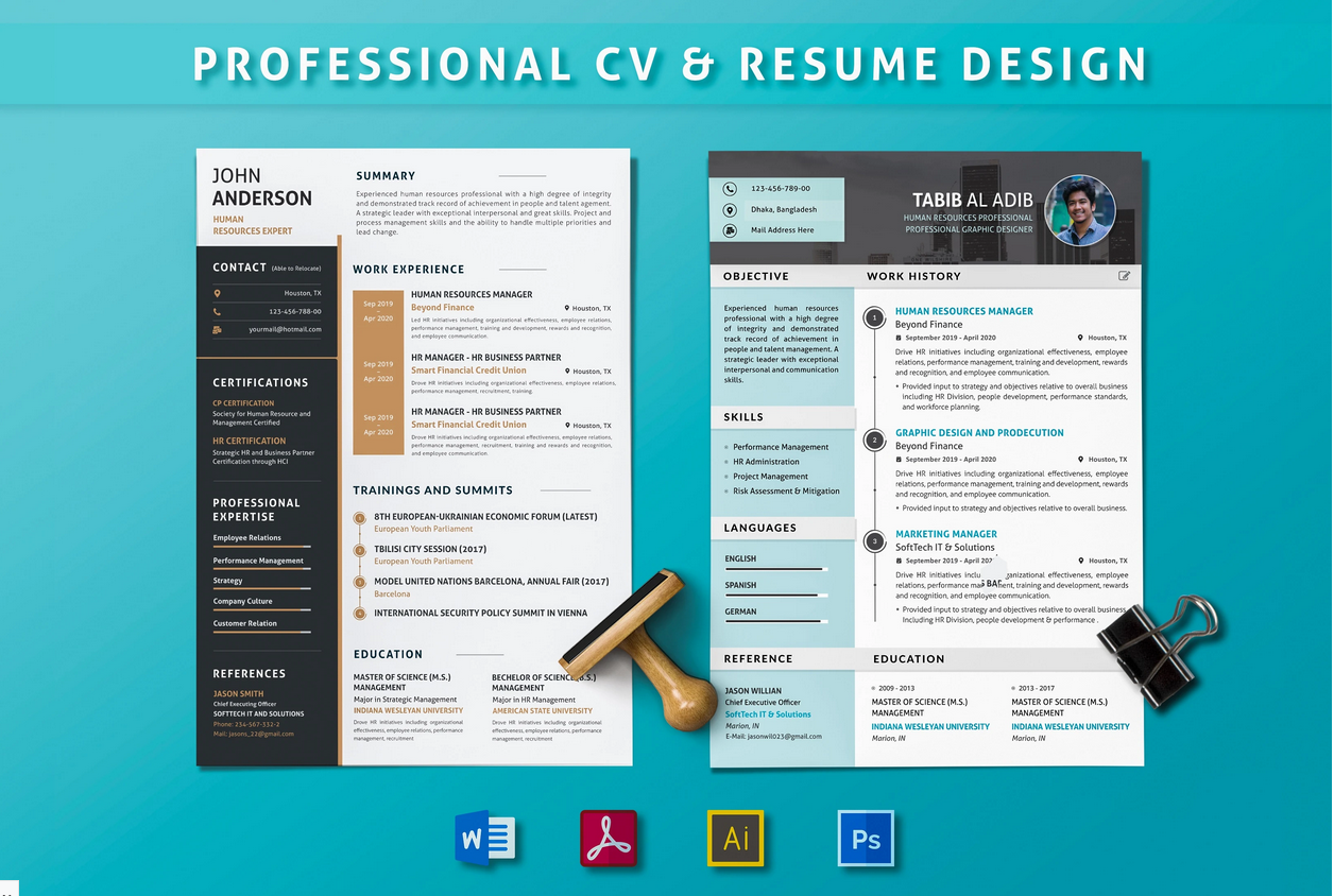 Make professional,  resume and portfolio design
