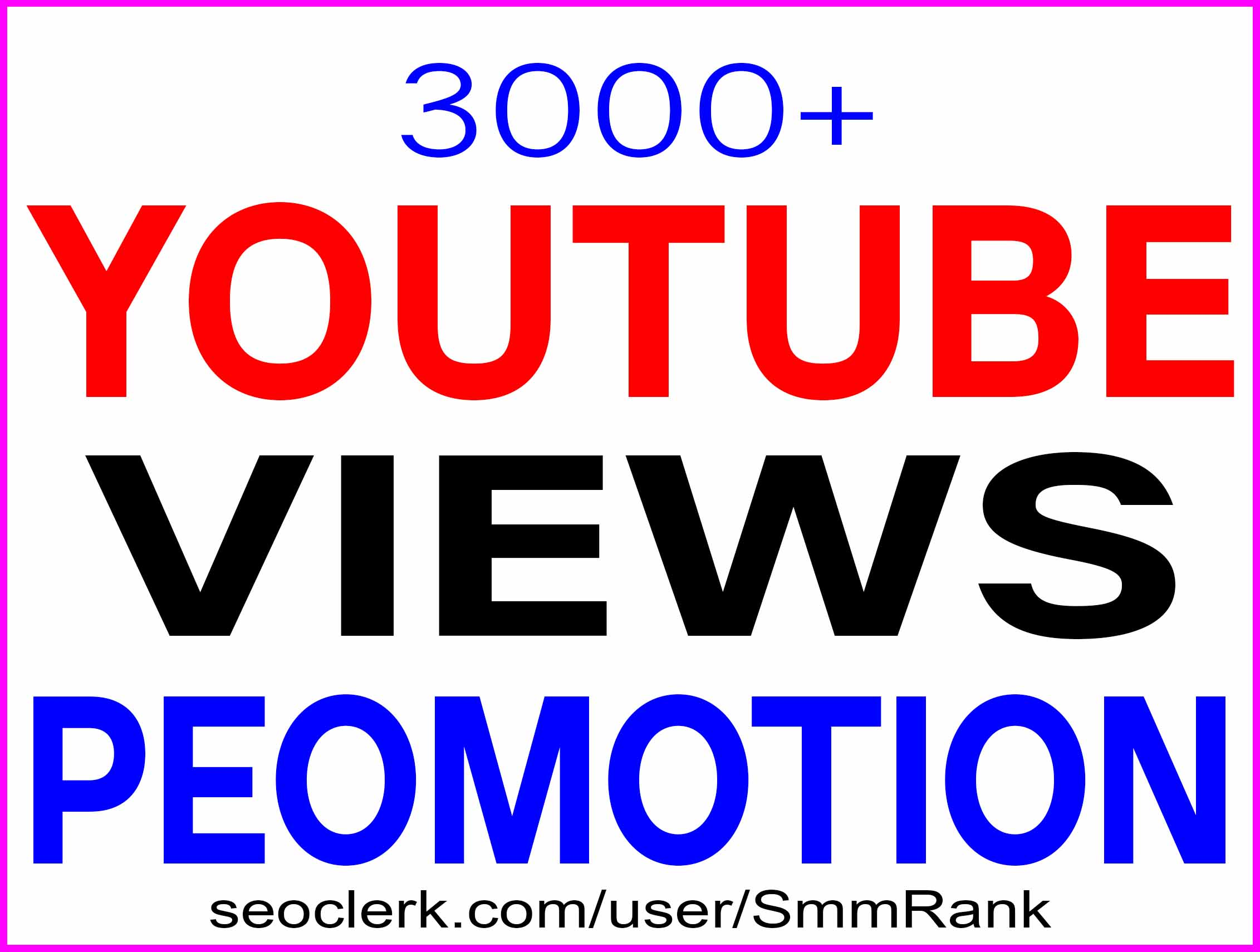 YOUTUBE VIDEO PROMOTION NON DROP AND HIGH QUALITY WITH SUPER FAST GUARANTEE